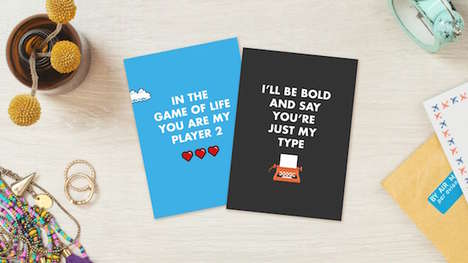 Greeting Card Puns - Punnypixels Creates Playfully Clever Cards for Valentine's Day