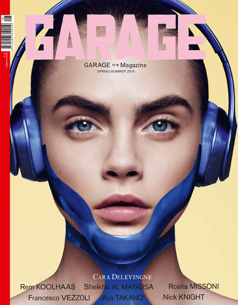 CGI Magazine Covers - The Latest Issue of Garage Mag Features Interactive Effects