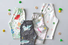 Pint-Sized Organic Activewear - These Organic Baby Pants Boast Artful Textile Patterns