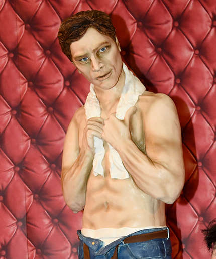 Kinky Character Cakes - This Life-Size Christian Grey Cake Might Give You Nightmares