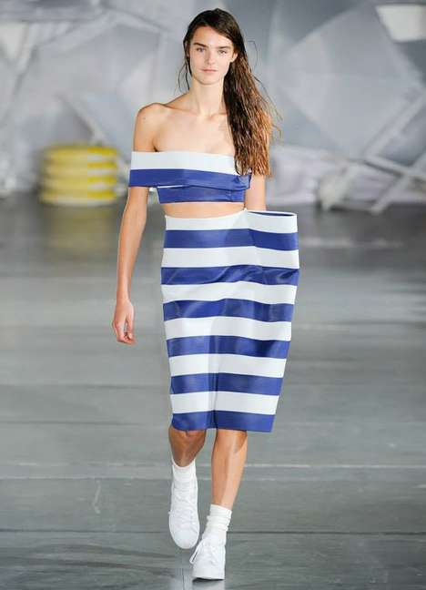 Sculptural Resortwear Runways - The Latest Jacquemus Collection Boasts Striped Fashion Staples
