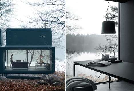 Compact Glass Cabins - Modular Glass House Offers Broad Landscape Views from Every Transparent Face
