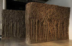 Whimsical Cardboard Sculptures - Artist Eva Jospin Creates Dense Forests Out of an Unlikely Material