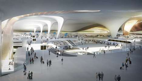 Starfish-Shaped Airports - The Beijing Airport Terminal Will Be The World's Largest