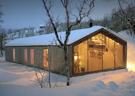 Naturally Formed Lodges - The V Lodge Features a Topographic Form