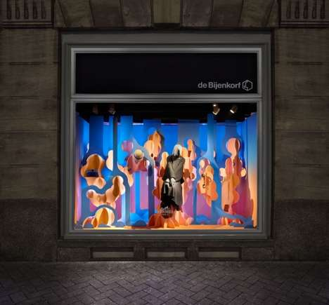 Aquatic Couture Displays - This Hermes Window Display Boasts Water-Themed Imagery