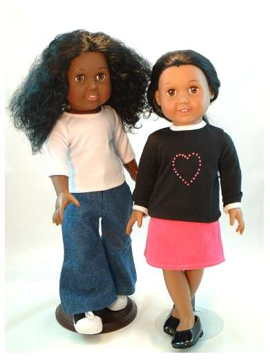 "Latina Dress-Up Dolls - Maria is An 18"" Latina Doll Made By the Pattycake Doll Company"