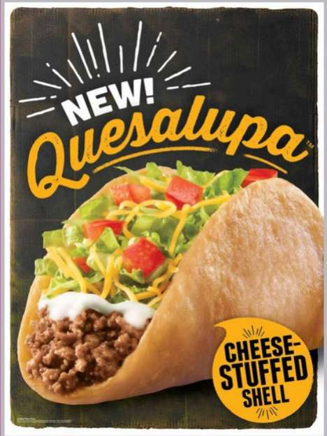Cheese-Stuffed Taco Shells - The Taco Bell Quesalupa is a Quesadilla and Chalupa Hybrid