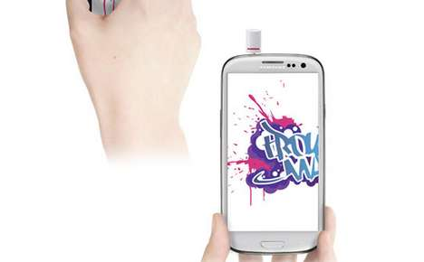 Digital Graffiti Phone Accessories - A Spray Can Smartphone Add-On is a Nozzle for Your Audio Jack