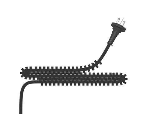 Interlocking Electrical Cords - A Zipper-Like Cable Design Prevents the Tangling of Appliance Wires