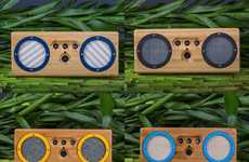 Retro-Modern Bamboo Speakers - These Limited Edition Audio Accessories Marry Style with Sound
