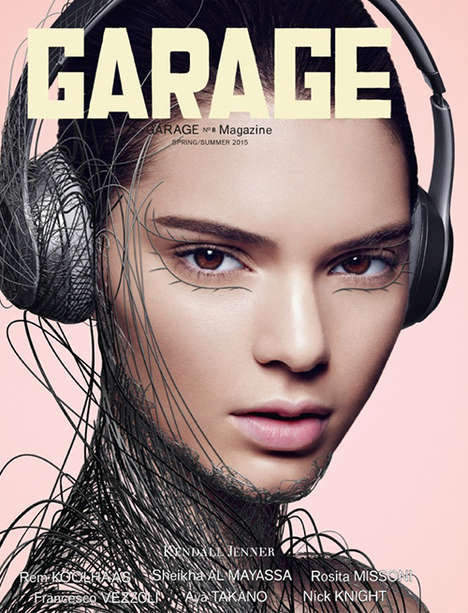Tech Chic Cover Shoots - Garage Magazine Stars Kendall Jenner, Cara Delevingne, Joan Smalls and More