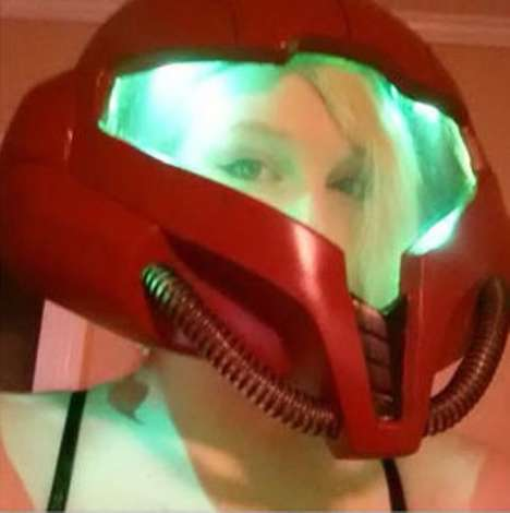 Armored Girl Gamer Headgear - The Metroid Samus Helmet Guarantees Comic-Con Costume Contest Wins