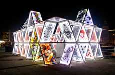 Choreographed Light Installations - The House of Cards by OGE Creative Group is Illuminating