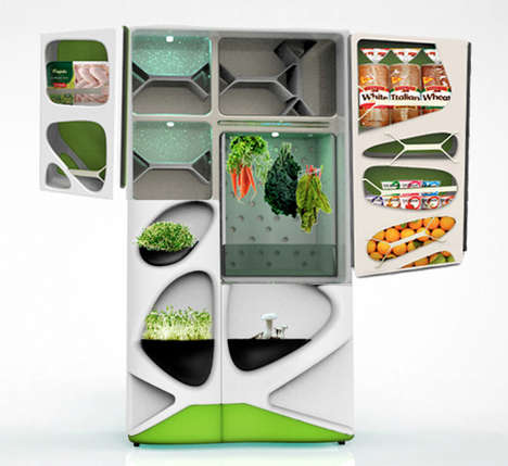 Fresh Garden Fridges - This Organic Refrigerator Integrates Compartments for Growing Your Own Food