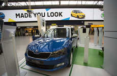 Personalized Ride Campaigns - This SKODA Car Marketing Stunt Harnesses the Power of AR Technology