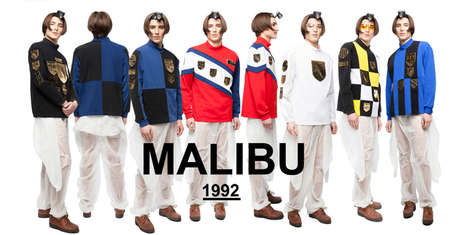 MOD Futurism Sportswear - The Latest Malibu 1992 Lookbook Juxtaposes Sporty and Luxe Elements