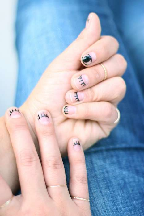 Flirty Eye Manicures - Honestly WTF's DIY Eye Nail Art is Mystical and Easy to Create