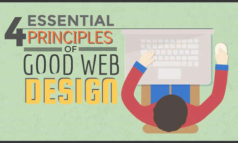 Web Design Guides - This Pixel Hero Infographic Identifies Four Essential Web Design Principles
