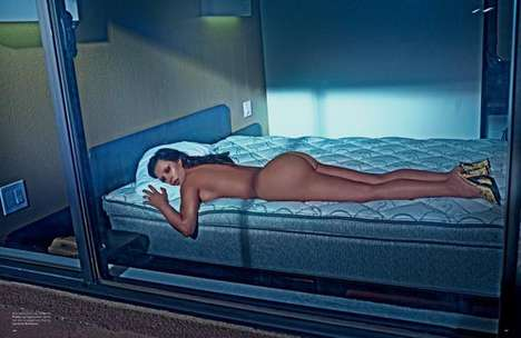 Artistically Nude Editorials (UPDATE) - The Love Magazine Kim Kardashian Cover Shoot is Provocative