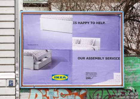 Self-Deprecating Furniture Ads - The IKEA Assembly Fail Billboards Riff on Its Own Reputation