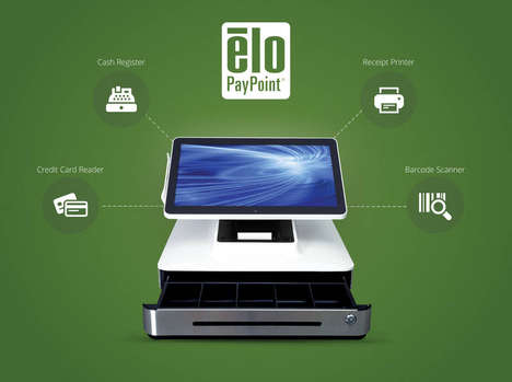 Tablet POS Systems - Elo's PayPoint Pro Register Handles Cards, Cash and Receipts