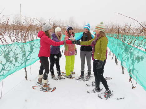 Snowshoeing Wine Tours - This Unique Wine Tasting Takes Vino Lovers on a Wintry Trip