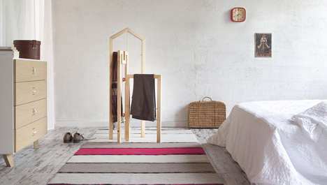 Architectural Clothes Racks - The Tusciao Valet Stand Takes the Silhouettes of Row Houses in Italy
