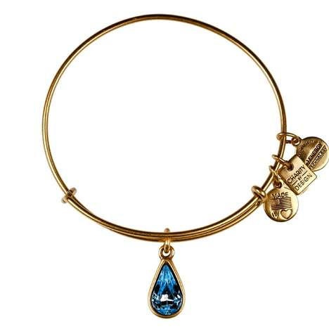 Bejeweled Charity Bracelets - The Living Water Charm Bracelet Helps Bring Water to the Poor