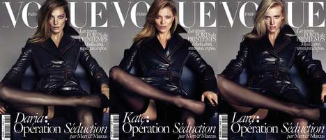 Collectible Supermodel Covers - The Vogue Paris Operation Seduction Issue Features Three Icons
