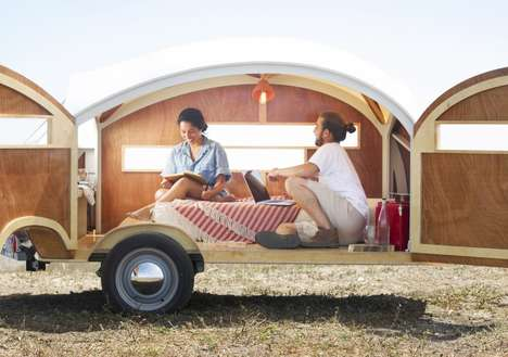 Teardrop Trailers - The Hutte Hut Teardrop Trailer Fits Two
