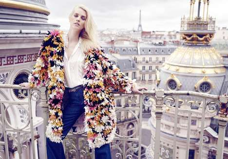 Parisian Couture Editorials - The Latest Vogue Paris Cover Story Celebrates Luxe Travel Attire