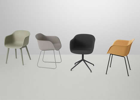 Sustainable Plastic Seating - The Iskos-Berlin Fiber Chair is an Eco-Friendly Twist on a Classic