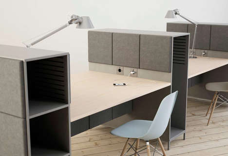 Mood-Curbing Office Furniture - The Sabine Collection by Glimakra of Sweden Absorbs Sound