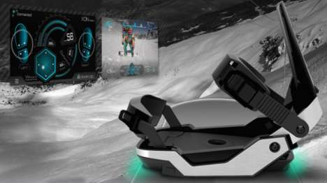 Futuristic Snowboard Bindings - The XON Snow-1 Provides Feedback On Snowboarding Performance