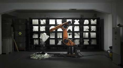 Styrofoam-Chopping Robots - Robochop Builds Structures Based On Online Users' Specifications