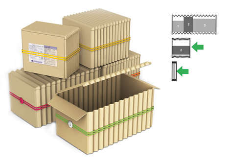 Accordion Eco Packaging - This Cardboard Box Design Can Ship Contents of Various Volumes