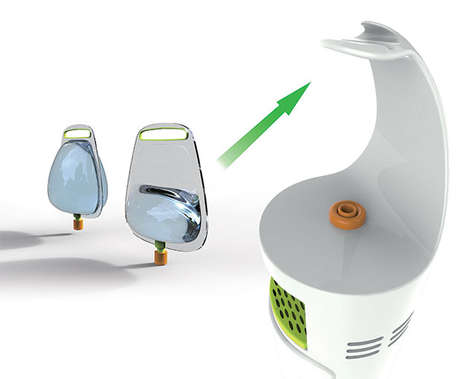 Bagged Beverage Stations - This Water Cooler Bag Concept Would Keep Out Airborne Bacteria