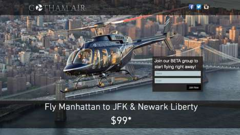 Helicopter-Hailing Services - Gotham Air is an Aerial Ridesharing Company for Quick City Commutes