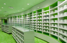 Chromatic Pharmacy Interiors - This Contemporary Architecture Project Will Impress Graphic Designers