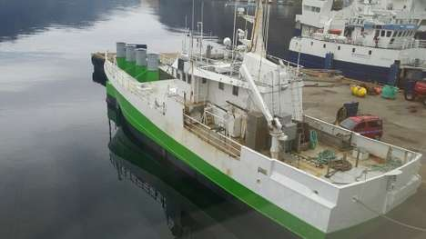 Wave Power-Harnessing Trawlers - This Old Fishing Trawler Now Harvests Wave Power