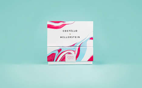 Marbleized Truffle Boxes - Costèllo + Hellerstein Creates a Dip Dye Chocolate Box for Coco Lovers