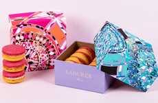 Silk Scarf Confections - The Emilio Pucci by Ladurée Collection Features Limited Edition Macarons