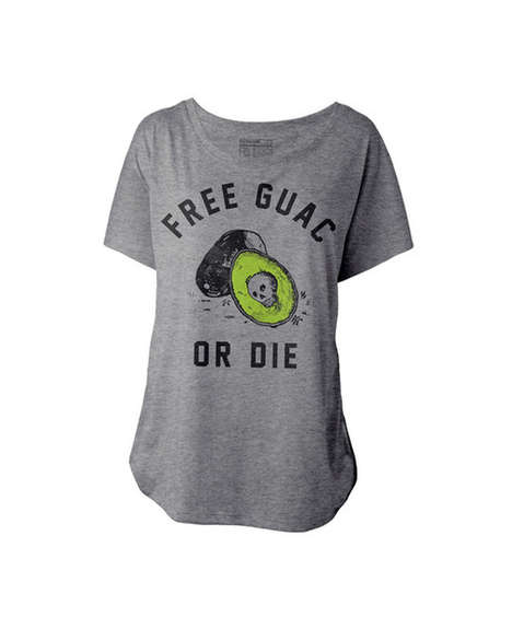 Liberating Guacamole Tees - This Guacamole T-Shirt Wants to Start a Revolution