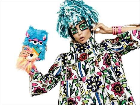 Expressive Anime Editorials - This Natasha Poly Vogue Japan Feature Boasts Manga Fashion Staples