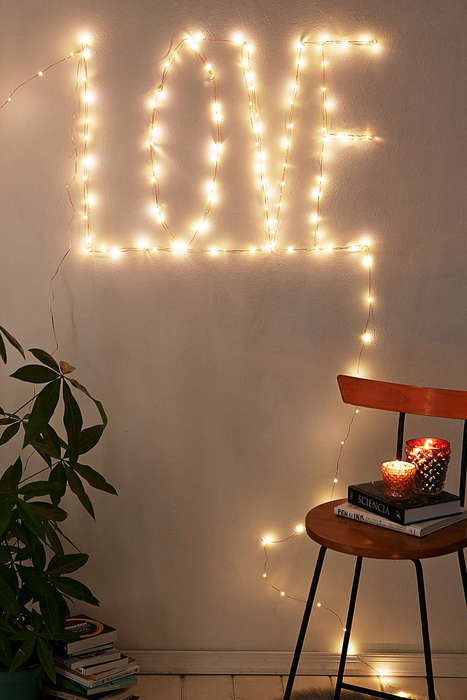 Romantic Typographic Lights - Urban Outfitters' Firefly Lights Can Be Customized to Spell Out Love