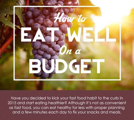 Budget Health Food Tips - CashNetUSA's Infographic on Cheap Healthy Eating Helps You Save Money