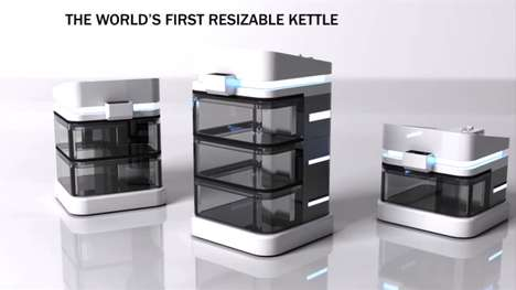 Compartmentalized Water Warmers - Modular Kettle Can Heat Up Single Servings at Once or Separately