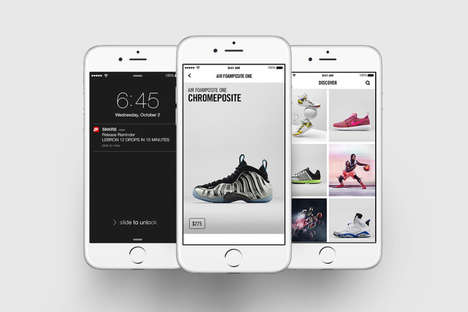 Footwear Release Apps - Nike's SNKRS App Brings News and On-the-Go Shopping to Mobile Devices