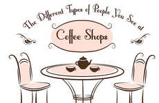 Cafe Stereotype Charts - This Infographic Identifies People at Coffee Shops You Will Alway See